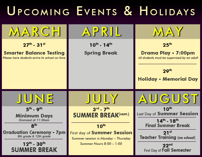 upcoming events 2017